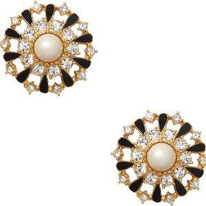 KATE SPADE Tuxedo Pearl Studs Earrings